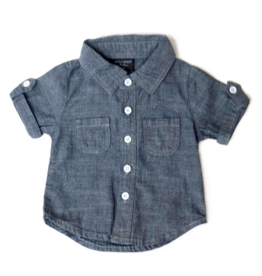 Little Bipsy Denim Button Up - Dark Wash