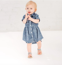 Little Bipsy Denim Swoop Dress - Dark Wash