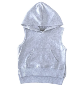 Little Bipsy Sleeveless Hoodie - Heather Grey