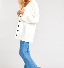 Show Me Your Mumu Brit Cardigan - Brady Knit Cream