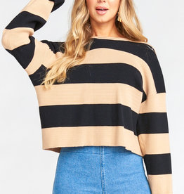 Show Me Your Mumu Scholar Sweater - Hubble Stripe Knit