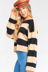 Show Me Your Mumu Scholar Sweater - Hubble Stripe Knit