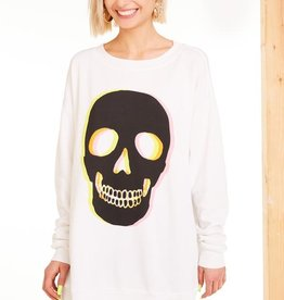 Wildfox Glow Skull Roadtrip Sweatshirt