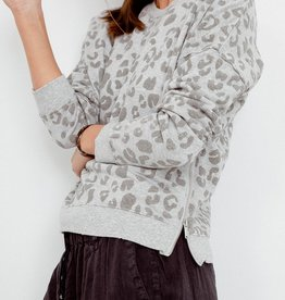 Rails Marlo Sweatshirt - Flocked Grey Leopard