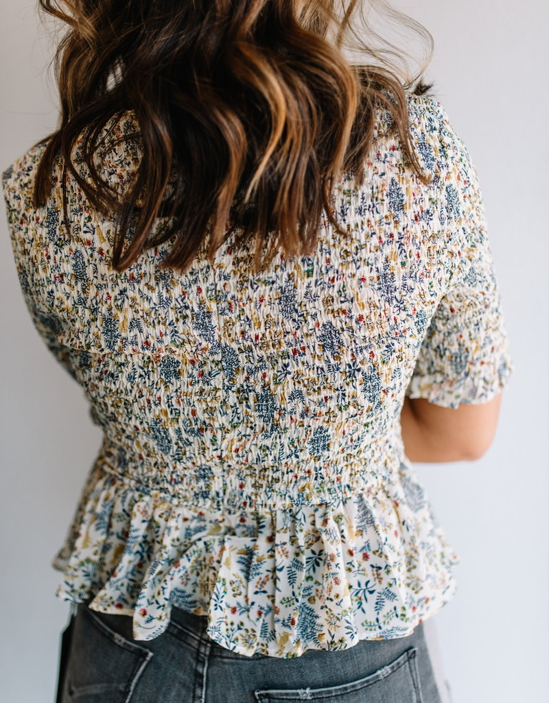 English Factory Flower Child Smocked Top