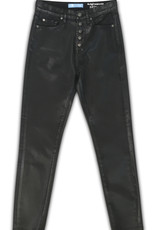 7 For All Mankind High Waisted Ankle Skinny - Coated Black