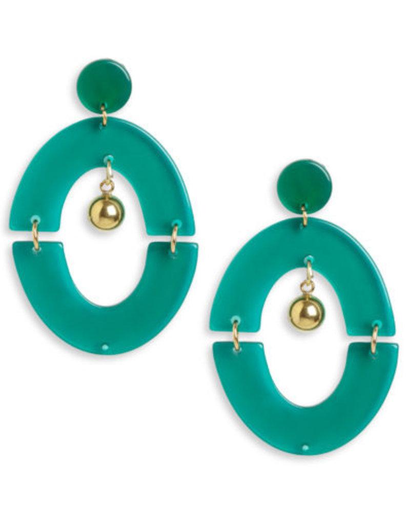 Neely Phelan Green Orbit Gold Ball Drop