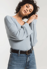 Z Supply The Sweater Knit Notch Front Pullover