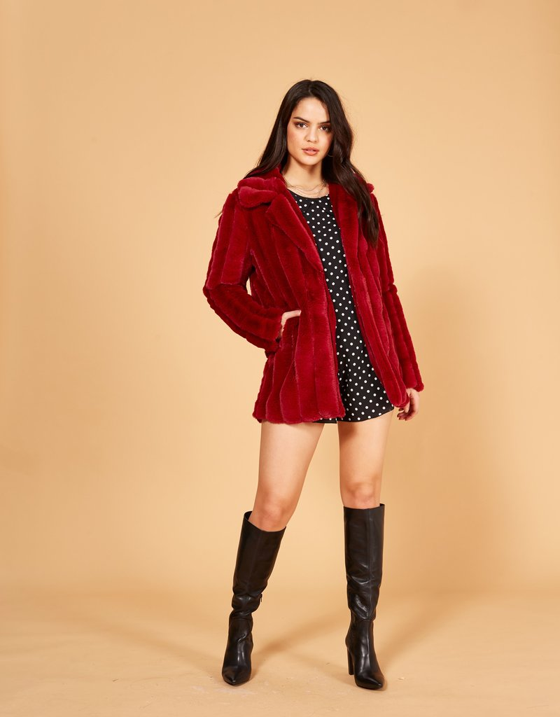 Minkpink Kimbra Fur Jacket