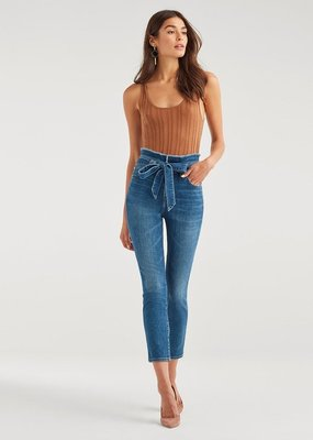 7 For All Mankind Paper Bag Skinny - Bayberry