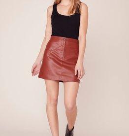 BB Dakota Keep Livin' Mini Skirt -Rust