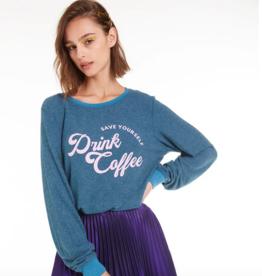 Wildfox Drink Coffee Baggy Beach Jumper