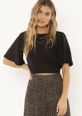 Amuse Society Brie Woven Top