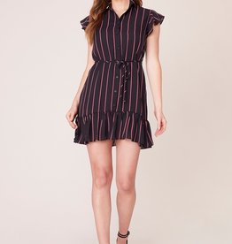 BB Dakota City Lines Striped Dress
