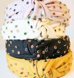 LABEL Top Knot Rhinestone Headband