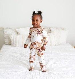 Posh Peanut Reese Floral Henley Pajamas