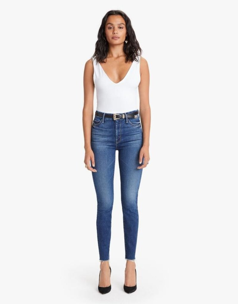 Mother The High Waisted Looker Ankle Fray - Night Clubbing
