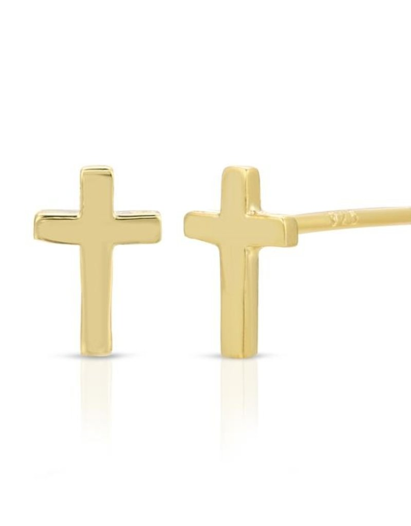 Joy Dravecky Cross Stud Earrings