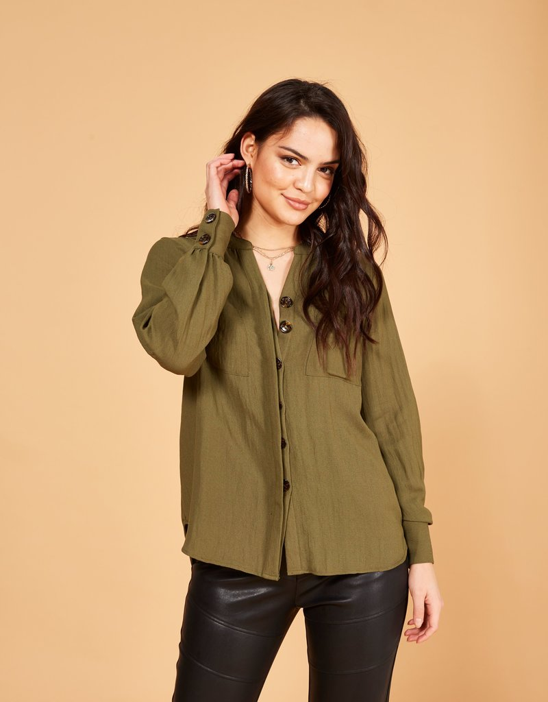 Minkpink Madarin Collar Shirt