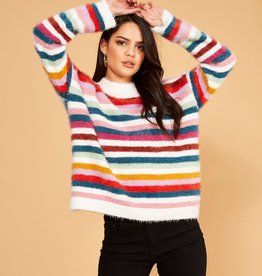 Minkpink Debby Stripe Sweater