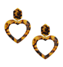 Neely Phelan Open Heart Drop Earring