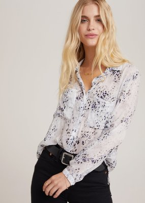 Bella Dahl Hipster Shirt - White Chalk Blue