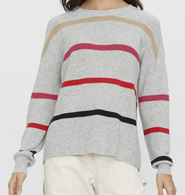 Michael Stars Sammi Striped Crew Neck Pullover