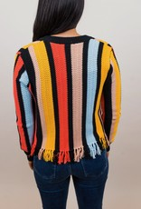 English Factory Stripe Knit Jacket