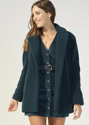 Minkpink Game Of Chance Shearling Coat