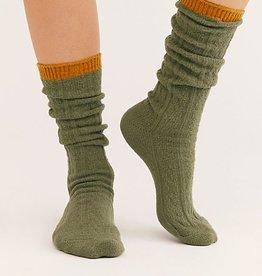 Free People Koda Cable Slouchy Socks