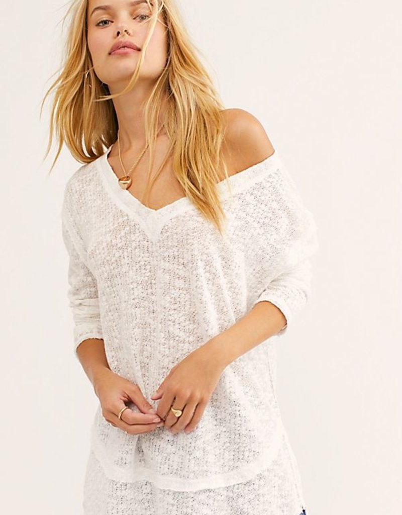 Free People Ocean Air Hacci Top