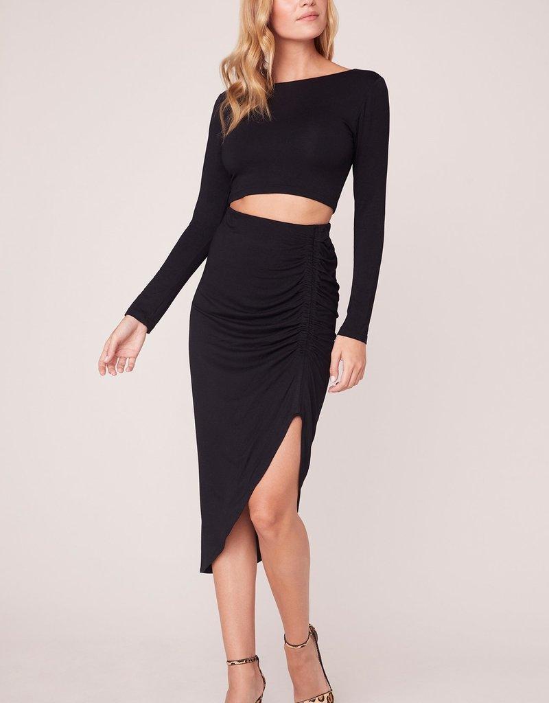 BB Dakota How Ruched Midi Skirt