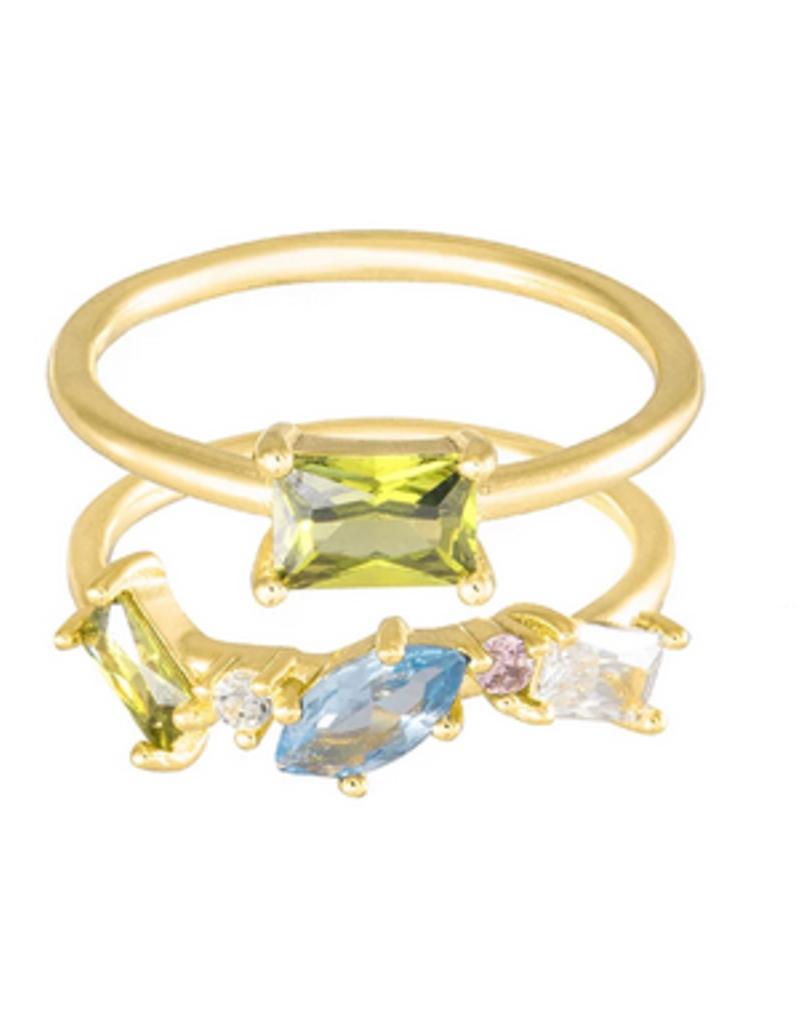 Wanderlust + Co. Kaia Gold Ring Set