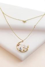 Wanderlust + Co. Skylar Gold Layered Necklace
