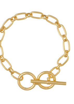 Wanderlust + Co. Toggle Gold Bracelet