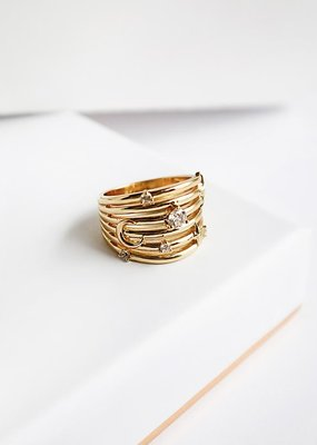 Wanderlust + Co. Astra Gold Ring