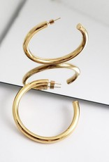 Wanderlust + Co. Faye XL Hoop Earrings