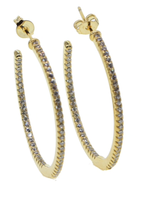 Accessory Concierge Gold Micro Pave Hoop