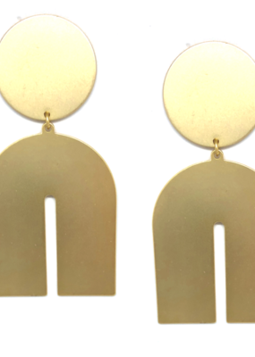 Accessory Concierge Geometric Brass Drop Earring