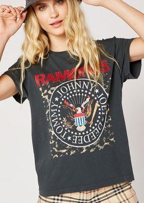 Daydreamer Ramones Leopard Crest Tour Tee