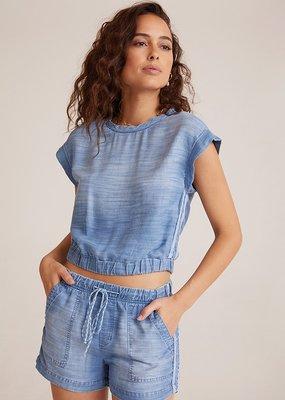 Bella Dahl Trimmed Cap Sleeve Pullover
