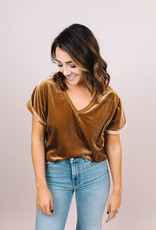 Sofia Quinn Velvet V-Neck
