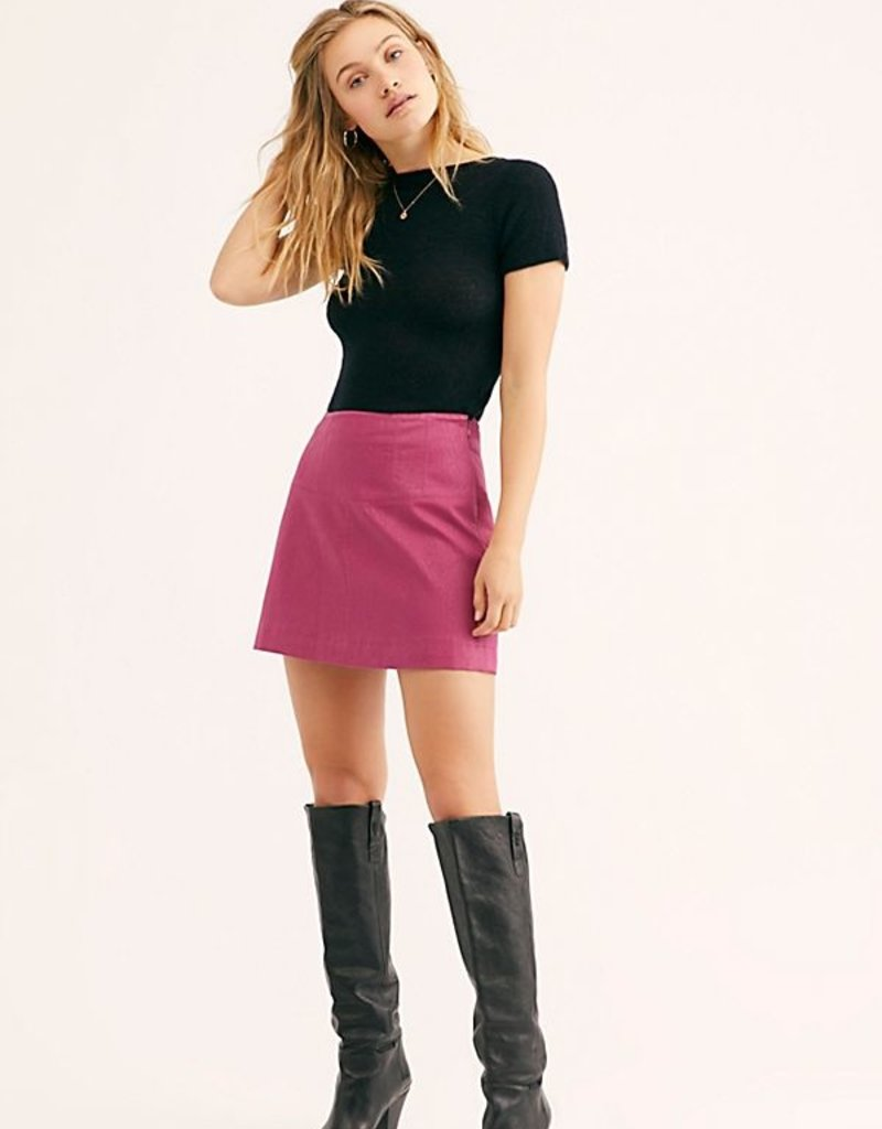Free People Days In The Sun Suede Skirt