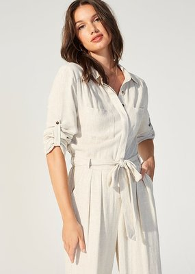 Minkpink Linen Boilersuit