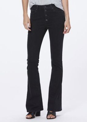Paige High Rise Lou Lou Flare - Black