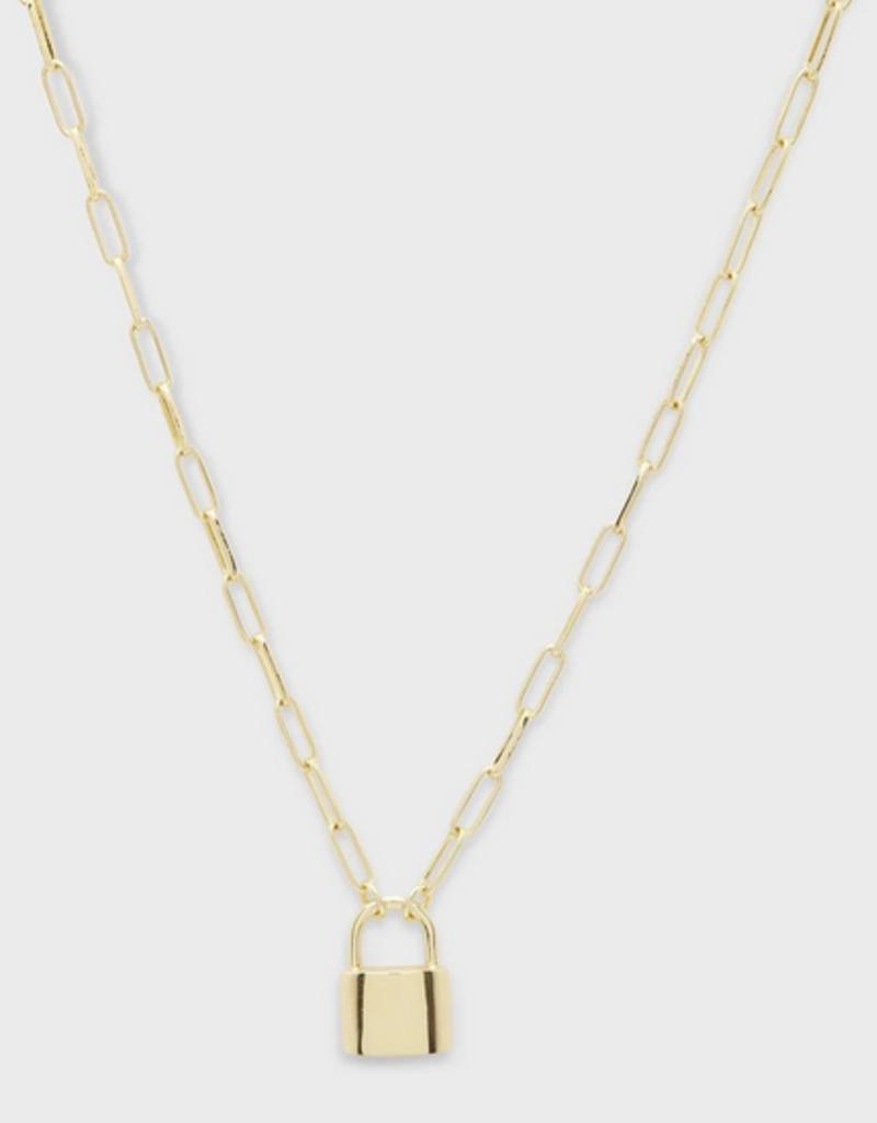 Gorjana Kara Padlock Charm Necklace