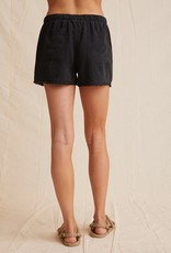 Bella Dahl Frayed Pocket Short - Vintage Black