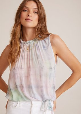 Bella Dahl Sleeveless Shirred Neck Top - Ethereal Pastel