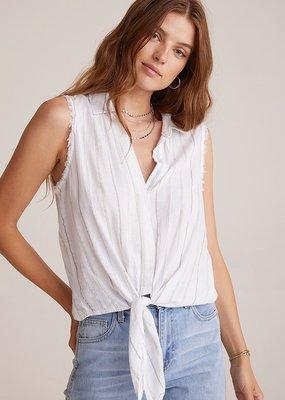 Bella Dahl Tie Front Sleeveless Button Down - White