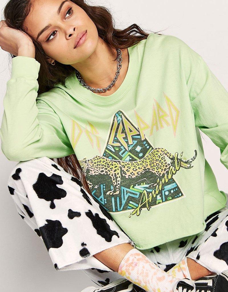 Daydreamer Def Leppard Animal Long Sleeve Crop